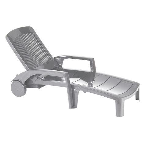 chaise de bain b b chaise longue fidji gris souris grosfillex chaises