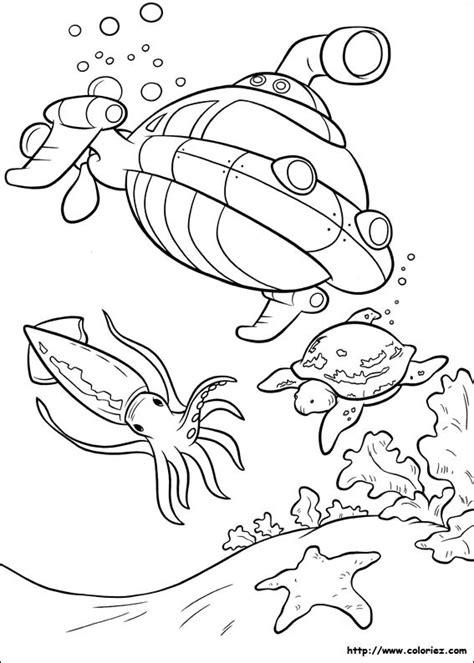 coloriage sous marin des petit einstein facile dessin