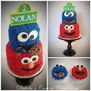 Sesame Street Cake And Cupcakes Buttercream Frosting With
