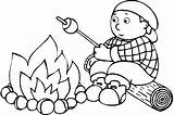 Coloring Campfire Fire Camp Popular sketch template