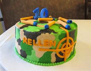 Nerf Camouflage Cake - CakeCentral com