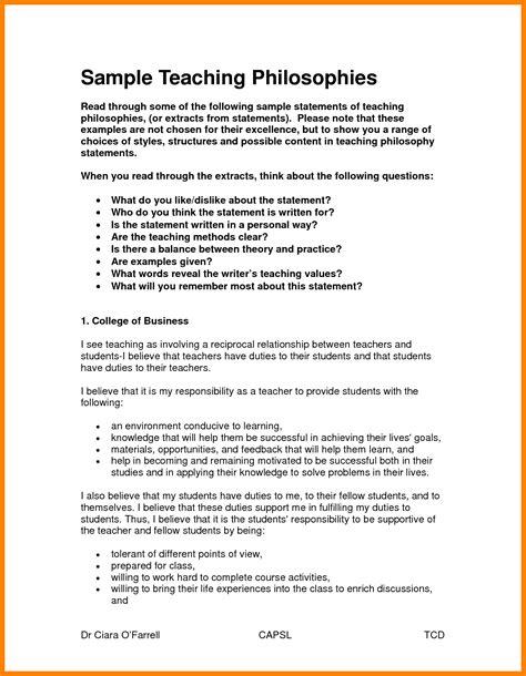 teaching philosophy statement case