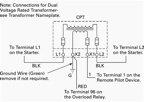 Wiring Control Power Transformer For Motor