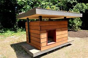 eco chic pet houses offer creature comforts green roof With flat roof dog house plans