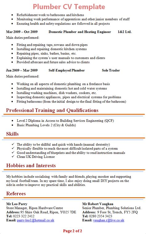 Resume For Plumbing Apprenticeship by 28 Plumber Resume Template Unforgettable Apprentice
