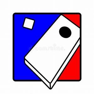 Corn hole icon symbol stock vector. Illustration of ...