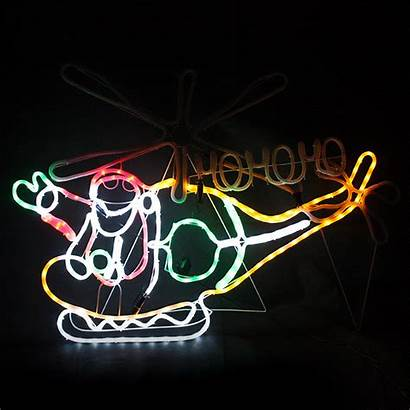 Led Helicopter Christmas Animated Santa Lights 5m