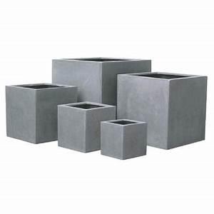 Pot De Fleur Interieur Design : pot pour fleur bac cube int rieur ext rieur gris ~ Premium-room.com Idées de Décoration