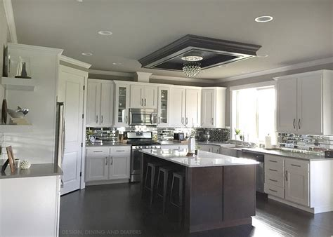 Kitchen Sink With Backsplash Design Your Own Gray And White Kitchen Homestylediary Com