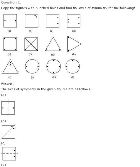 cbse class 6 maths symmetry worksheets ncert solutions
