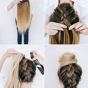 Coiffure Tresse Facile Cheveux Mi Long : notre top 3 des tutos de chignons faciles faire soi m me ~ Melissatoandfro.com Idées de Décoration
