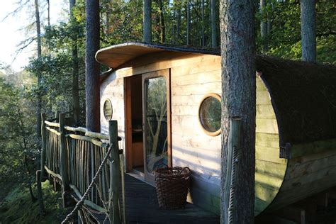 Staying In A Tree House In Wales