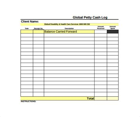 petty template 8 petty log templates to sle templates