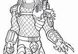 Predator Coloring Pages Alien Vs Printable Getcolorings Pa Getdrawings sketch template