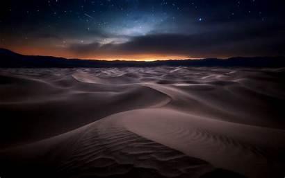 Desert Night Starry Sand Wallpapers Background Dunes