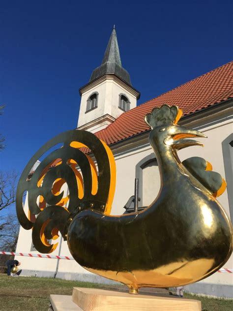 FOTO: Atjaunotais Baltezera baznīcas gailis atgriezies ...