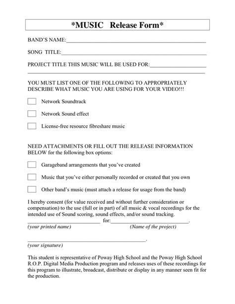 talent release form  word   formats