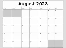 June 2028 Printable Calender