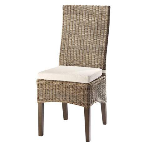 chaise en rotin  mahogany massif hampton maisons du monde