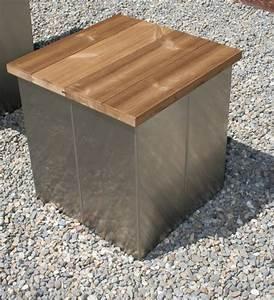 Hocker Aus Holz : garten im quadrat garten hocker aus edelstahl und holz modern puristisch ~ Markanthonyermac.com Haus und Dekorationen