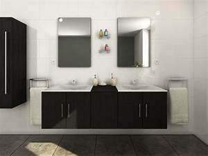 meuble double vasque une salle de bain rangee et design With vente unique meuble salle de bain