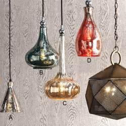 Antique handmade rocky silver glass pendant lighting