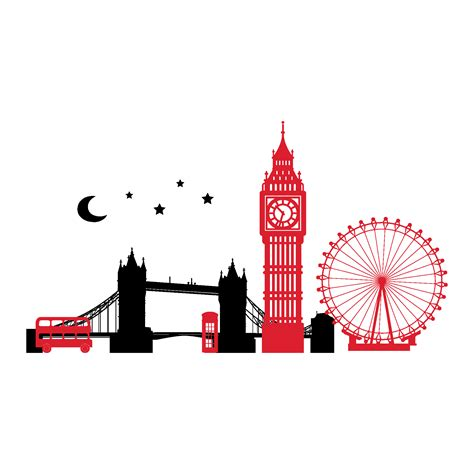london skyline  night wall quotes wall art decal wallquotescom