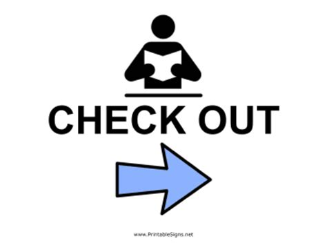 check in check out printable library check out right sign