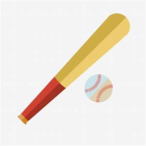 Vector Cartoon Baseball Bat, Baseball, Bat, Cartoon PNG ...