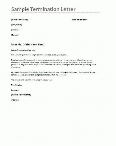 Termination Letter Sample Template Estate Letters Format