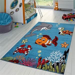Kinderzimmer Blau Grau : kinderzimmer teppich unterwasserwelt kurzflor in t real ~ Sanjose-hotels-ca.com Haus und Dekorationen
