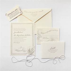loiseau lucky luxe couture correspondence letterpress With l letterpress wedding invitations