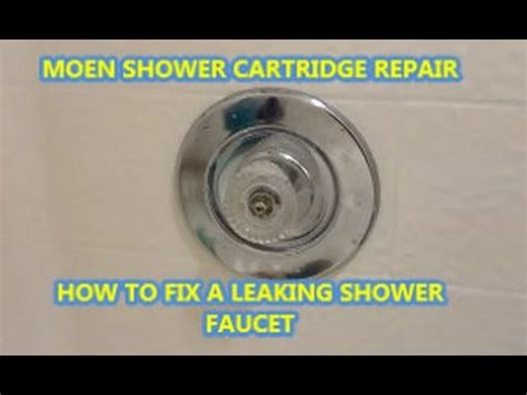 how to fix a leaky shower faucet how to fix a leaking shower faucet moen cartridge