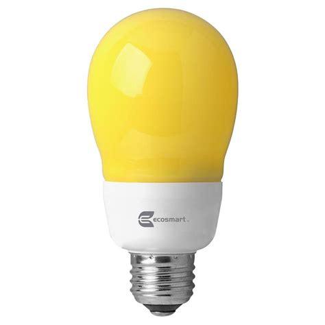 Ecosmart 60 Watt Equivalent A19 Yellow Bug Cfl Light Bulb