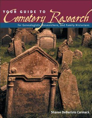 guide  cemetery research  sharon debartolo carmack reviews discussion bookclubs lists