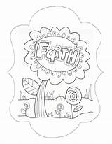 Faith Coloring Seed Mustard Hope Colouring Adult Form Flower Template Jawar sketch template