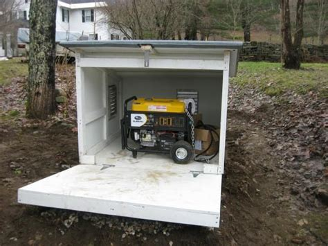Small Sheds For Generators  Generator In Rain
