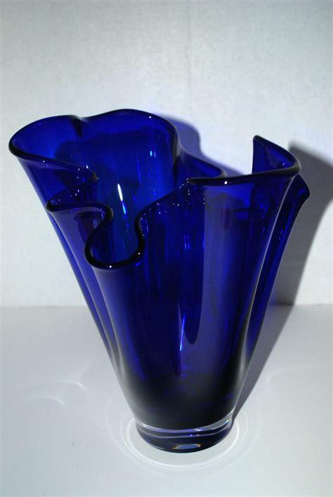 Glass Vases by Sale Cobalt Blue Glass Vase Free Form Vase