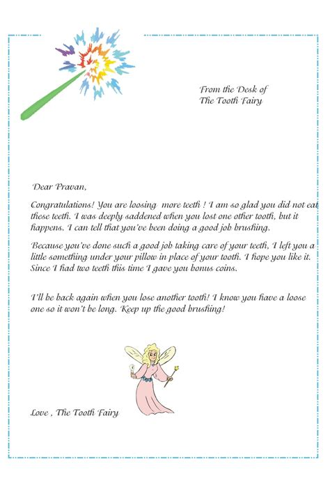 pin tooth fairy letters  pinterest