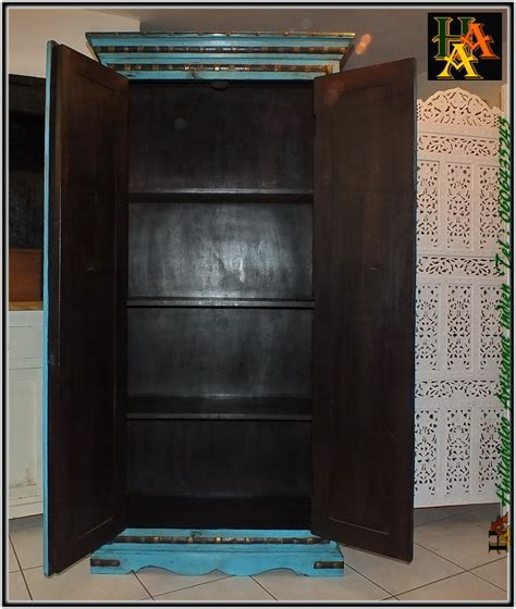 Perfect Armoire Bois Massif Manguier U Laiton Jnla With