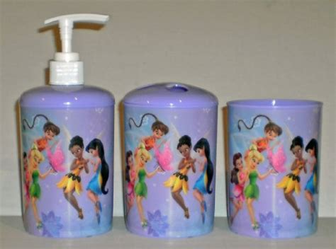 disney fairies tinkerbell 3 piece bathroom accessories set