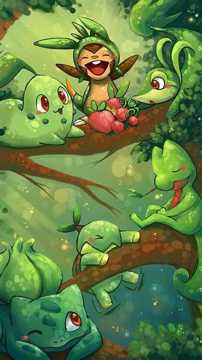Grass Pokemon Chespin Starters Wallpapers Iphone Deviantart