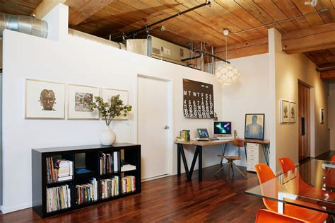 urban loft rustic home office los angeles