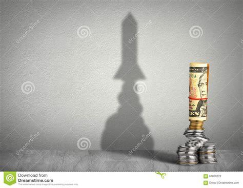 financial growth creative concept money  rocket