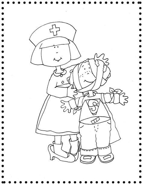 Kleurplaat Dokter Zuster by Kleurplaat Dokter Zuster De Dokter Ziek Zijn 1ste Kleuter