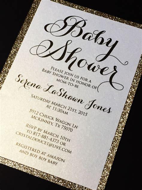 baby shower invitation glitter baby shower invitations