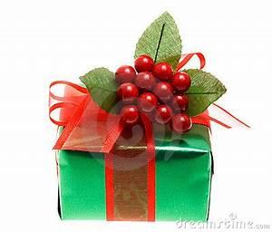 Green Christmas Gift Box Royalty Free Stock Image