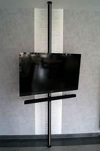 Tv An Wand Anbringen : tvhalterung bodendeckenstange uniprof24 ~ Markanthonyermac.com Haus und Dekorationen