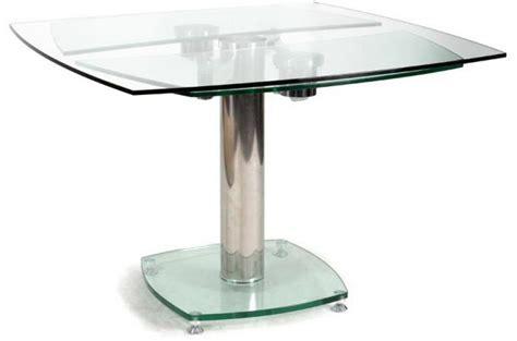 table carrée avec allonges plateau verre transparent table à manger pas cher