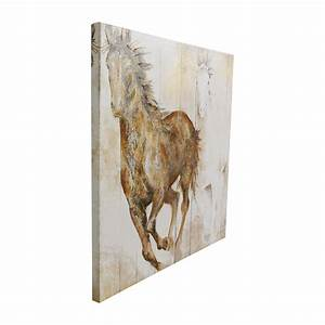 Off canvas horse print decor